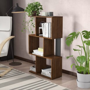 Benedick Geometric Bookcase by Wrought Studio 2019 Sale