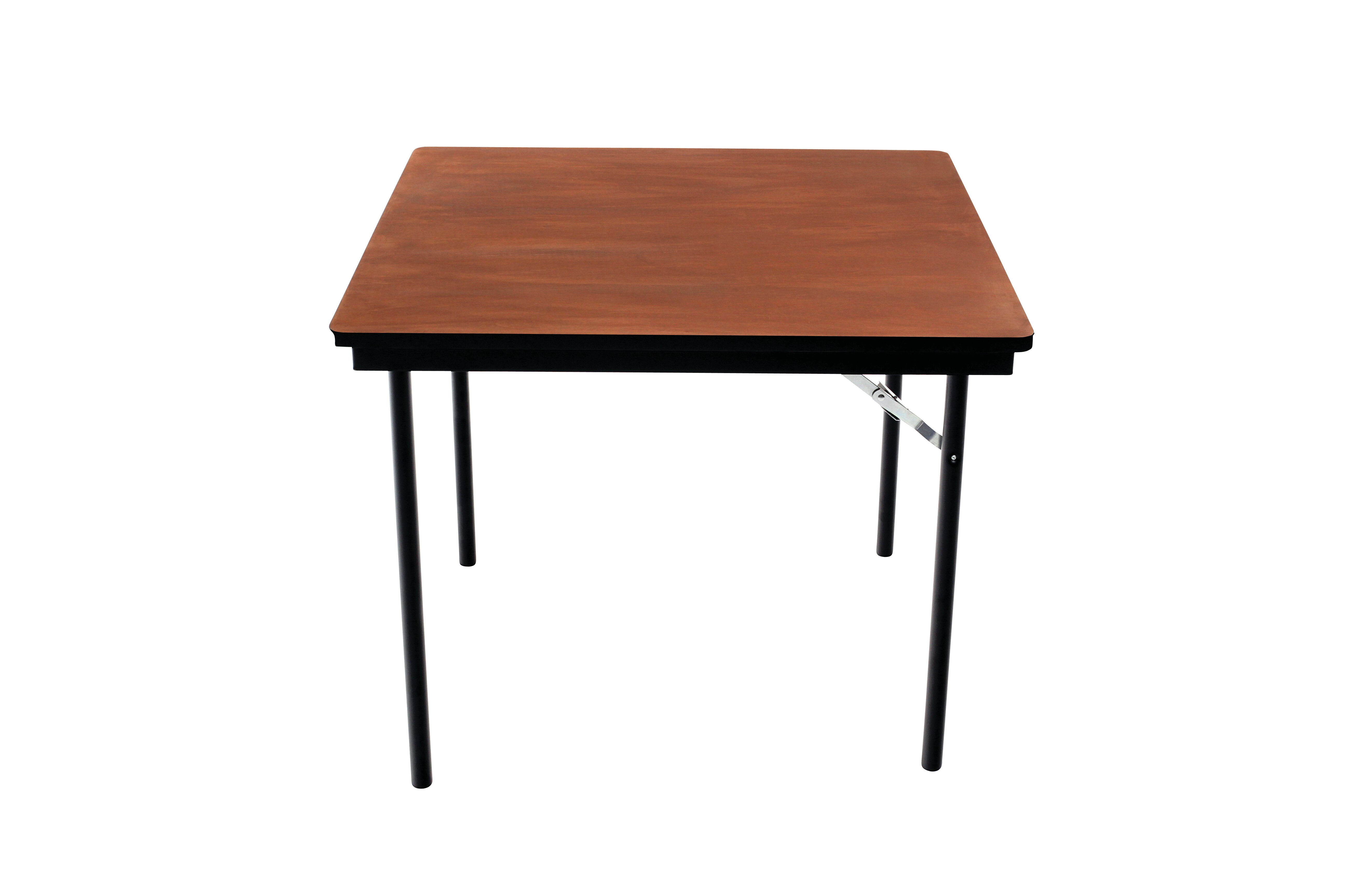 Folding Table Plywood Stained And Sealed Vinyl T Molding Edge Square