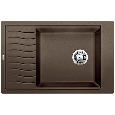 Blanco Precis 30.69 L x 19.69 W Medium Single Kitchen Bowl Sink with Drainer Color: Café Brown