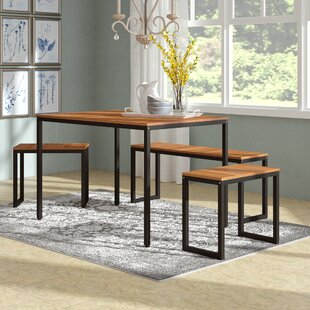 John 4 Piece Dining Set by Gracie Oaks Top Reviews