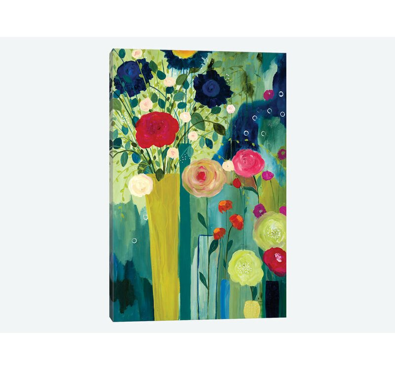 East Urban Home Surround Yourself With Beauty Graphic Art Print On Canvas Wayfair