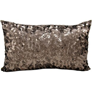 Sequin Silk Lumbar Pillow