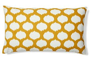 Divine Home Ikat Dots Indoor Outdoor Lumbar Pillow Wayfair