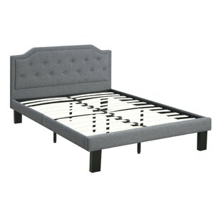Charlton Home Roussel Metal Twin Upholstered Panel Bed