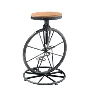 Townsend Adjustable Height Swivel Bar Stool by 17 Stories