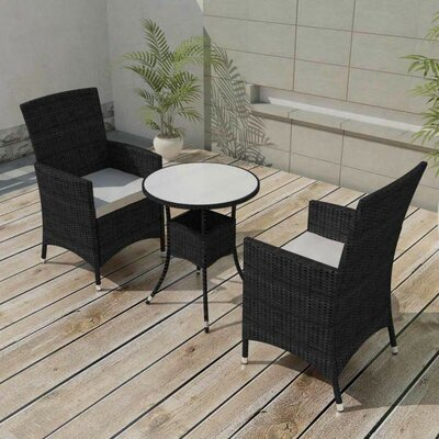 Kwon Garden 3 Piece Dining Set With Cushions by Brayden Studio Cool