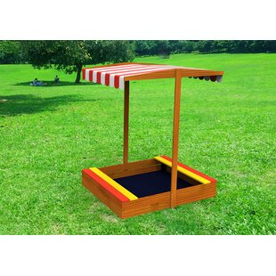 3.33 Ft. Square Sandbox With Cover By Toysters's