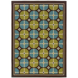 Emelle Brown/Blue Indoor/Outdoor Area Rug