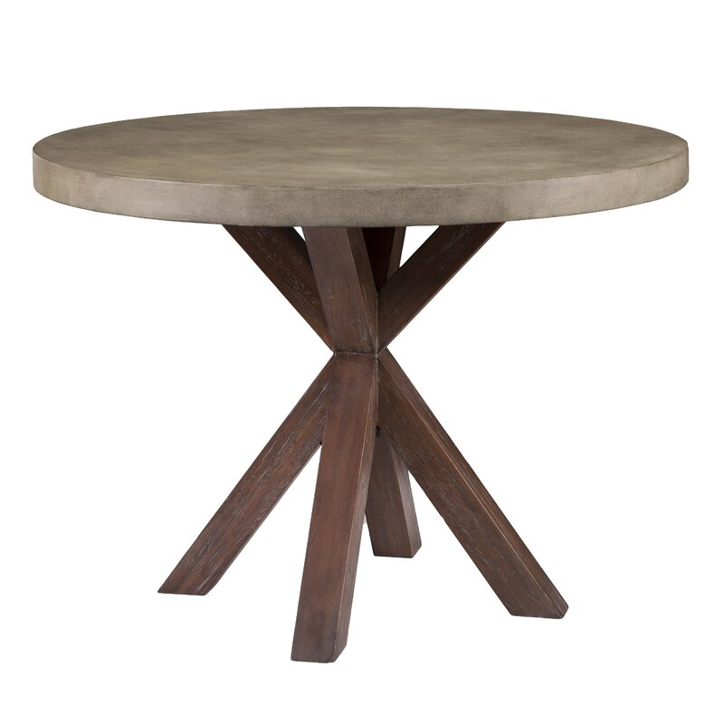 Loon Peak Astle Round Indoor Outdoor Concrete Dining Table