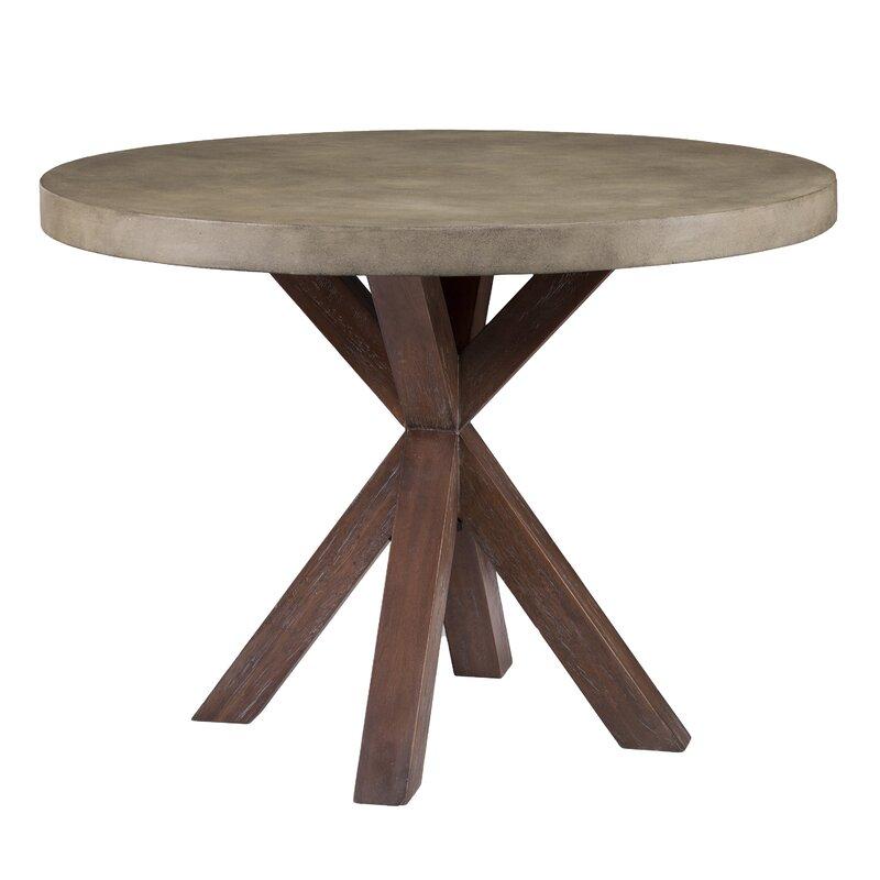 loon peak astle round indoor outdoor concrete dining table reviews wayfair. Black Bedroom Furniture Sets. Home Design Ideas