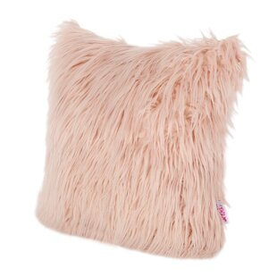 Abbas Glam Long Hair Faux Fur Throw Pillow (Set Of 2) by Home Loft Concepts Herry Up