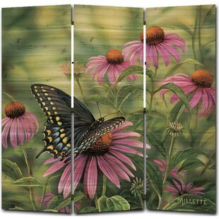 WGI-GALLERY Swallowtail Butterfly 3 Panel Room Divider
