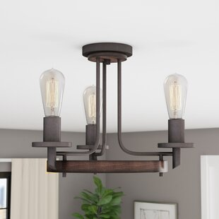 Trent Austin Design Redvale 3-Light Semi Flush Mount