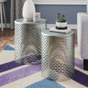 Merrionette 2 Piece End Table Set by Wrought Studio
