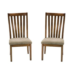 Union Rustic Prager Slat Back Side Chair (Set of 2)