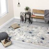 Mckenzie Floral Pattern Gray/Cream Area Rug byWorld Menagerie