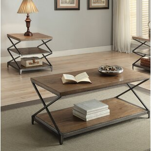 Brayden Studio Clayton 2 Piece Coffee Table Set