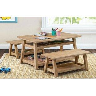 Affordable Sit n' Stash Kids 3 Piece Table and Bench Set ByECR4kids