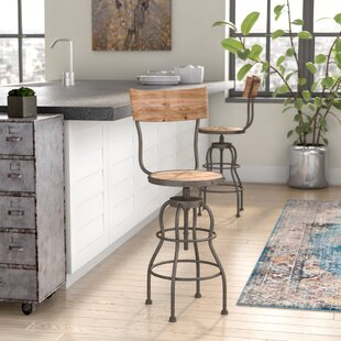 Micha Adjustable Height Swivel Bar Stool by
