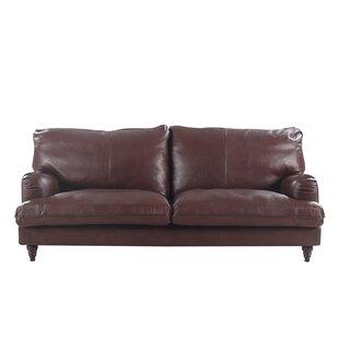 Auberto Classic Victorian Leather Sofa