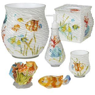 Top Reviews Cater Fish 6 Piece Bathroom Accessory Set ByHighland Dunes