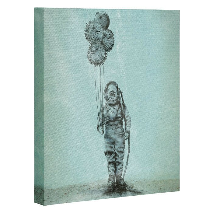 Wrought Studio Balloon Fish Graphic Art On Wrapped Canvas Wayfair