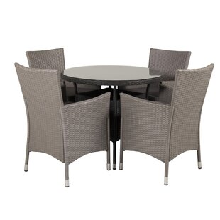 Mitul 4 Seater Dining Set With Cushions By Sol 72 Outdoor