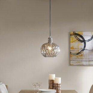Wrought Studio Deleo Glass 1-Light Pendant