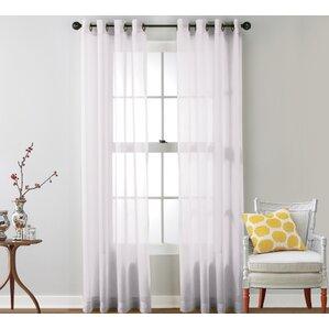 caldera sheer solid grommet curtain panel set of 2