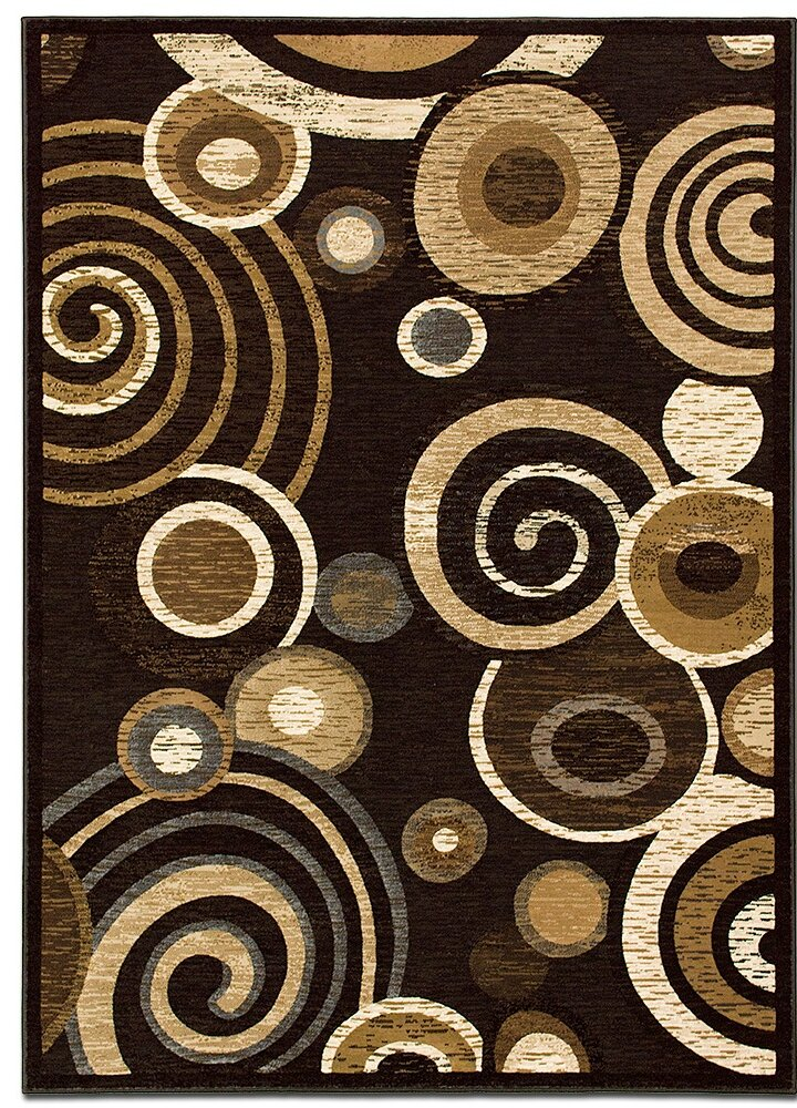 Allstar Rugs Circles Chocolate Area Rug