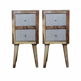 Shop Blairstown 2 Drawer Nightstand (Set of 2) By Bungalow Rose
