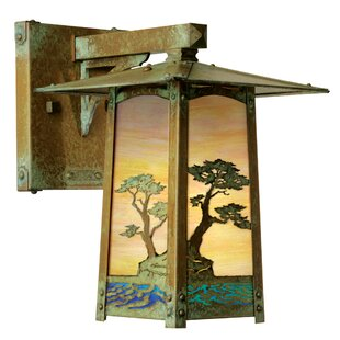 Best Reviews Dever 1-Light Outdoor Wall Lantern By World Menagerie