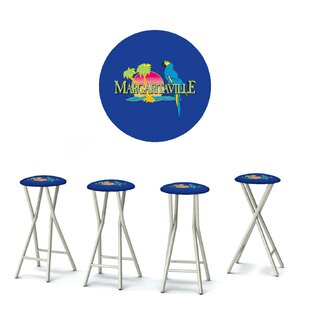Best of Times Margaritaville 30'' Patio Bar Stool with Cushion (Set of 4)