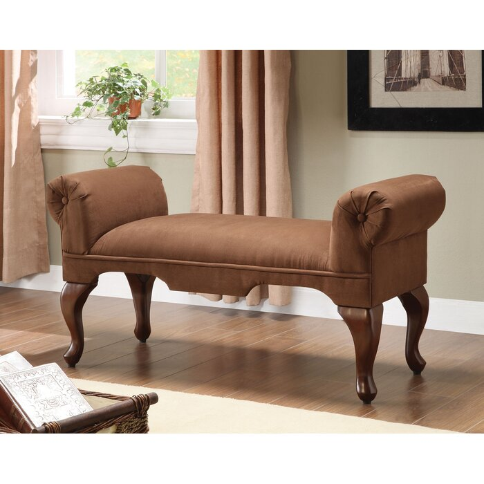 Fort Ransom Rolled Arm Upholstered Bench