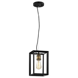 Desi 1-Light Square/Rectangle Pendant by 17 Stories