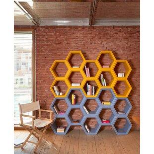 Brayden Studio Gladeview Geometric Bookcase