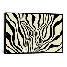 Modern Zebra Print Graphic Art on Canvas