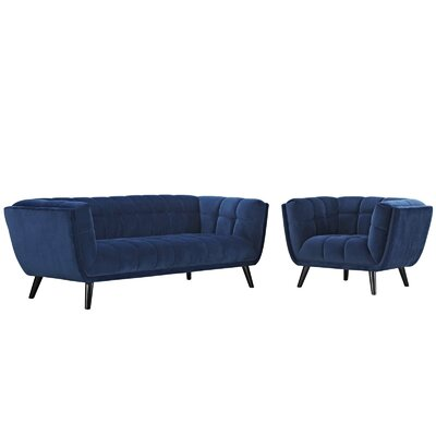 Brayden Studio Seneca 2 Piece Living Room Set Color: Navy