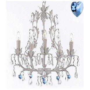 House of Hampton Mohr Floral 5-Light Chan..