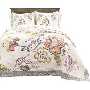 angel 3 piece reversible quilt set