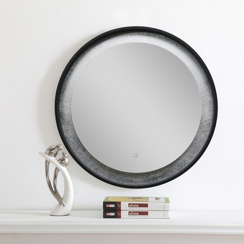 House of Hampton Tribeca Modern & Contemporary Lighted Makeup / Shaving Mirror