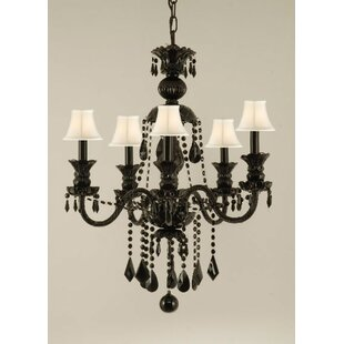 Keesee 5-Light Shaded Chandelier by House of Hampton