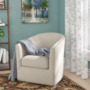 Leominster Swivel Barrel Chair by Three Posts