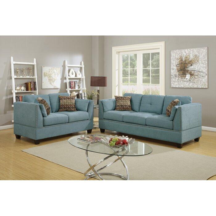 Veronique 2 Piece Living Room Set