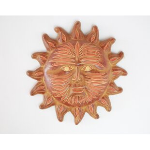 Handmade Clay Sun Wall Decor