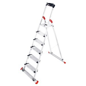 6.23 ft Aluminum Garden and Home Step Ladder with 330 lb. Load Capacity
