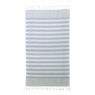 Brielle Pestemal Turkish Cotton Beach Towel Color: Blue