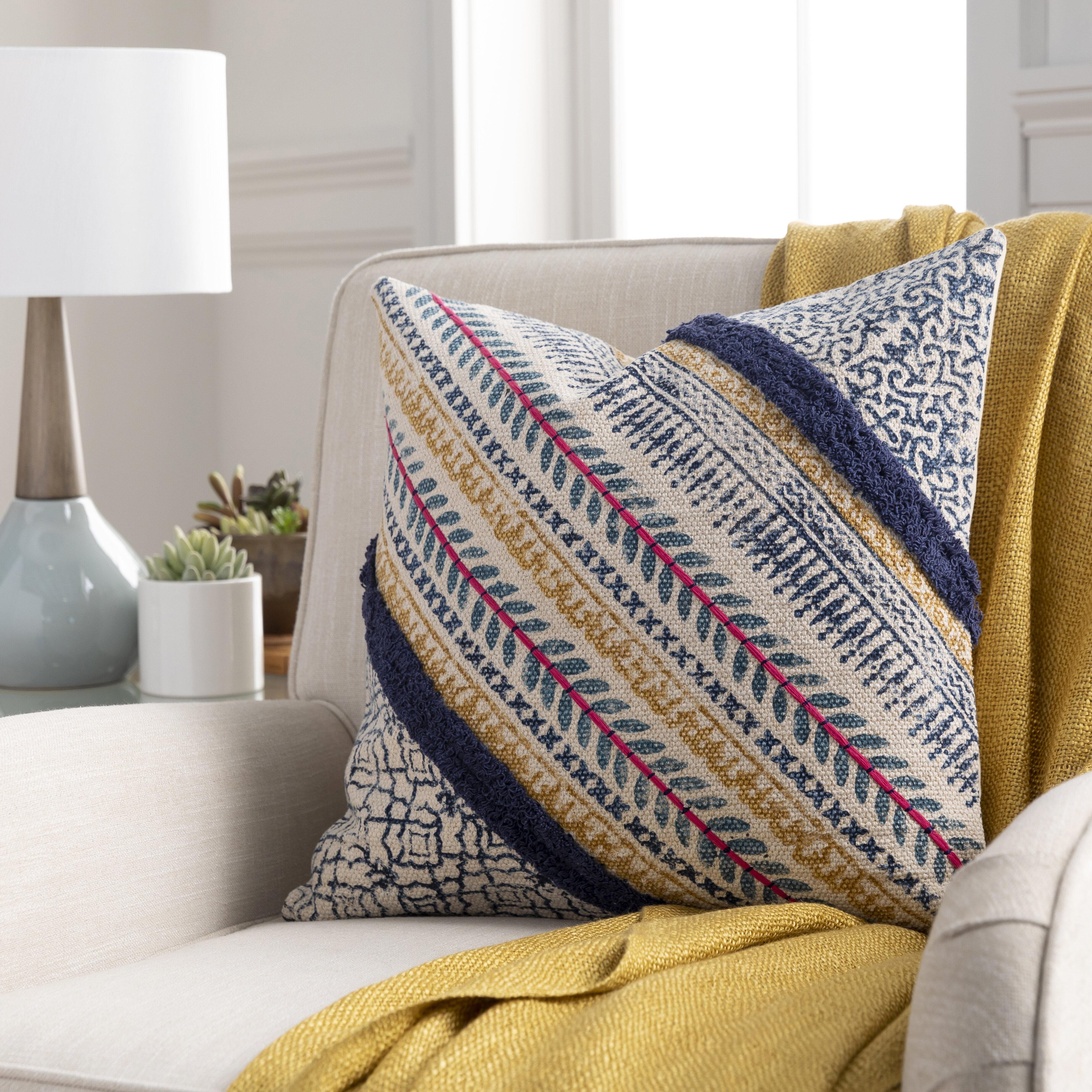 Dakota Fields Bookman Cotton Throw Pillow Cover Reviews Wayfair