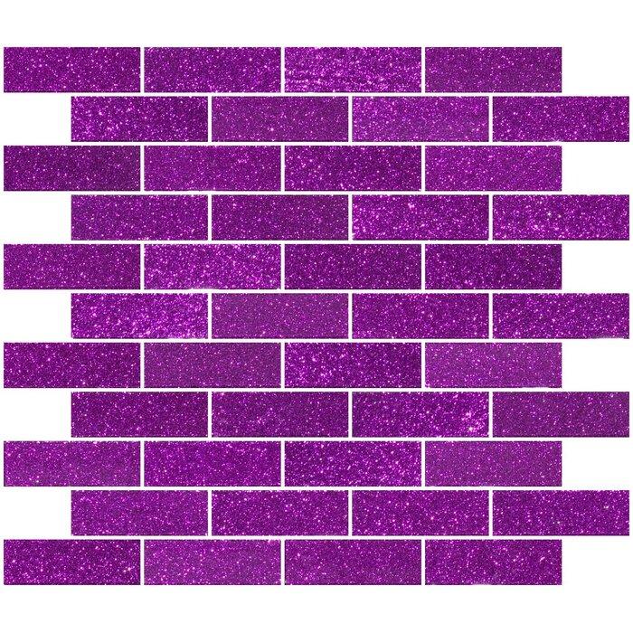 1 X 3 Gl Subway Tile In Purple Violet