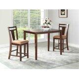 Flossmoor 3 Piece Pub Table Set by Charlton Home®